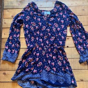 Adorable Navy blue floral romper